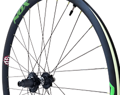 Custom-Built Carbon Composite Mountain Bike Wheel